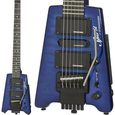 "Steinberger Spirit GT-PRO ""QUILT TOP"" DELUXE (TL/Trans Blue)"