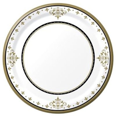 Stafford Gold 26cm Paper Plates