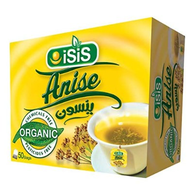 ISIS Natural Egyptian Anise Herbal Tea Daily Drinks For Perfect Start ينسون (1 Box (50 Teabags))