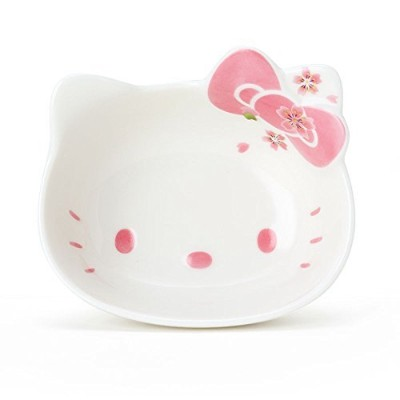 (S) - Hello Kitty Ceramic Face Bowl,Cerezo Pink, Made in Japan (S)