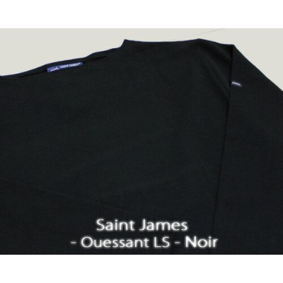 Saint James Ouessant Long sleeve boatneck solid Noir セント ジェームス ウエッソン / 長袖 無地 ボートネック 厚手 ブラック 定番 made...