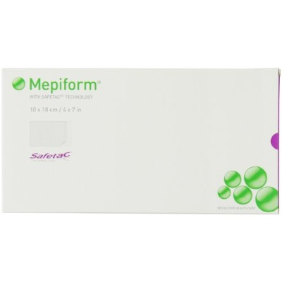 Mepiform with Safetac Technology self adherent soft silicone sheeting, 4 X 7 Inch, 5 Count by...