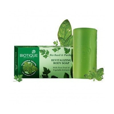 Biotique Bio Basil & Parsley Revitalizing Body Soap 150 Gm (PACK OF 2) [並行輸入品]