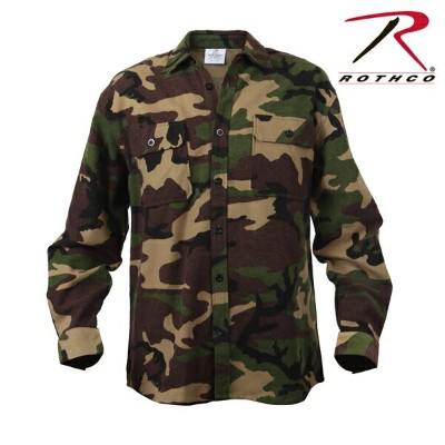 Rothco Extra Heavyweight Camo Flannel Shirts(ロスコ迷彩フランネル シャツ )4659