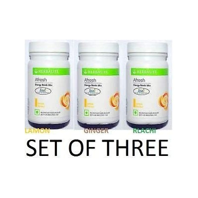 Herbalife Afresh Energy Drink Mix - 500 g (Lemon, Ginger and Elaichi, Pack of 03)