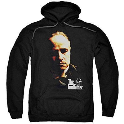 Trevco Godfather-Don Vito Adult Pull-Over Hoodie, Black - XL