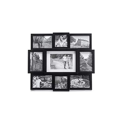 Malden Array Black Plastic 9-Opening Puzzle Collage Picture Frame by Malden