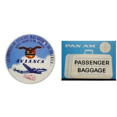 LEADWORKS LEADWORKS/ヴィンテージステッカー 2種セット AIRLINE AVIANCE & PAN AM アントレスクエア 生活雑貨 生活雑貨その他