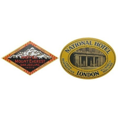 LEADWORKS LEADWORKS/ヴィンテージステッカー 2種セット HOTEL MOUNT EVEREST & NATIONAL HOTEL アントレスクエア 生活雑貨