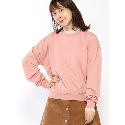 BROWNY STANDARD/(L)レースフリルスウェット ウィゴー カットソー