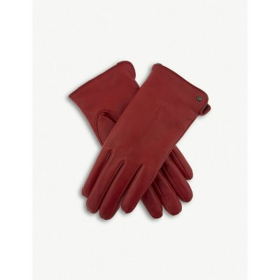 デンツ dents レディース 手袋・グローブ【faux-shearling leather gloves】Berry