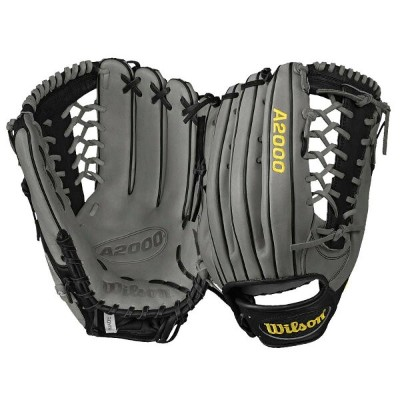 ウィルソン Wilson メンズ 野球 グローブ【A2000 KP92 Pro Lace T-Web Fielder's Glove】Grey/Black