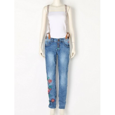 【SALE/55%OFF】Desigual (W)DENIM_BOYFRIEND SUSPENDERS デシグアル パンツ/ジーンズ【RBA_S】【RBA_E】【送料無料】
