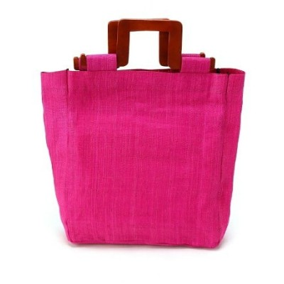 【SALE/30%OFF】actuel actuel/(W)【LE VERNIS】 Abaca Wood Tote インタープラネット バッグ【RBA_S】【RBA_E】【送料無料】
