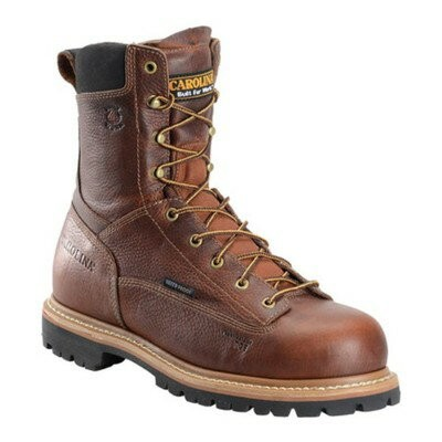 "カロリナ レインシューズ・長靴 CA5529 8"" Waterproof Composite Toe Work Boot Brown Leather"