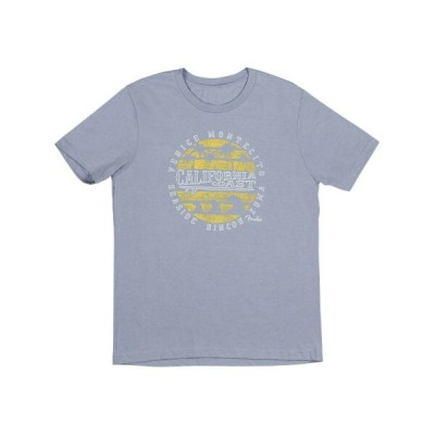 Fender Cali Coastal Yellow Waves Men's Tee Blue M Tシャツ