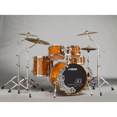 YAMAHA 《ヤマハ》 Yamaha Drums 50th Anniversary Drum Set [HM50CL / Curly Maple with Antique Natural] ...
