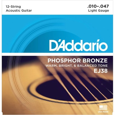 D'Addario 《ダダリオ》EJ38 [Phosphor Bronze Light 12-Strings]