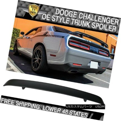 エアロパーツ Fit For 08-14 Dodge Challenger OE Style Rear Trunk Spoiler Wing ABS Unpainted 08-14ドッジチャレンジャー...