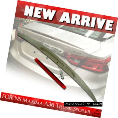 エアロパーツ SHIP FROM LA- 2016UP FOR NISSAN MAXIMA Rear Trunk Lip Spoiler Wing A36 8th Sedan NISSAN...