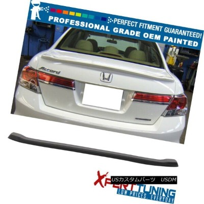 エアロパーツ Fits 08-12 Accord 8th Sedan Factory Style Trunk Spoiler - OEM Painted Color フィット8-12セダンファクトリー...