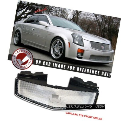 USグリル Fits 03-07 Cadillac Cts Stainless Mesh Chrome Grill Hood Grille ABS フィット03-07キャデラックCTSステンレスメッシ...