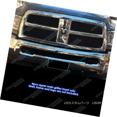 USグリル Fits 2010-2012 Dodge Ram 2500/ 3500 Black Billet Grille Inserts フィット2010-2012ダッジラム2500...