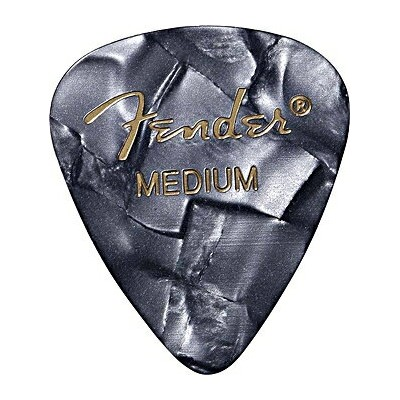 FENDER PICK(フェンダーピック) 「PREMIUM Celluloid 351 shape[Black Moto Heavy]×36枚セット」 【送料無料】【smtb-KD】【RCP】:...