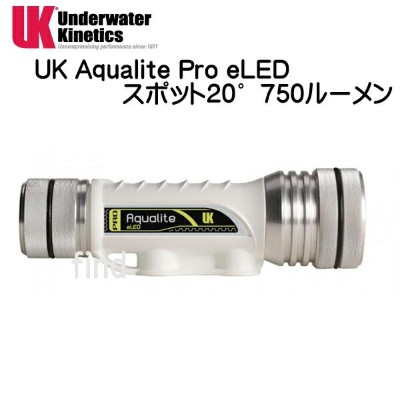 UK AQUALITE PRO 20°eLED アクアライトプロ スポット20度 eLED 水中ライト 充電池、充電器付き 超小型充電式ライト 大光量750ルーメン UNDERWATER...