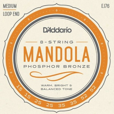 【DT】D'Addario マンドーラ弦 EJ76 Mandolla Phosphor Bronze Medium 015-052