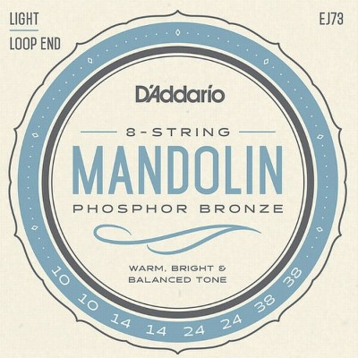 【DT】D'Addario マンドリン弦 EJ73 Phosphor Bronze Light 010-038
