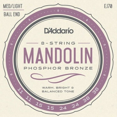 【DT】D'Addario マンドリン弦 EJ70 Phosphor Bronze Medium/Light 011-038
