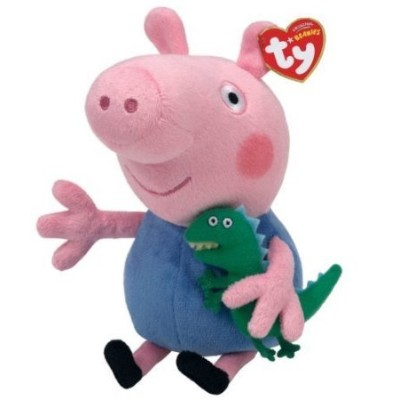 Ty Peppa Pig UK Exclusive Beanie Baby (ビーニーベイビーズ) George by Ty TOY ドール 人形 フィギュア
