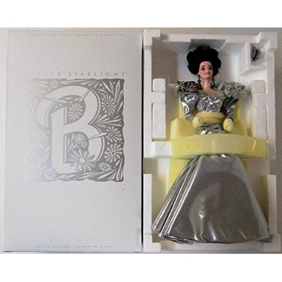 バービーSILVER STARLIGHT BARBIE PORCELAIN LIMITED EDITION SERIAL # 00846 (1993 TIMELESS CREATIONS)