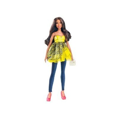 Barbie All Dolled Up STARDOLL Brunette Doll Yellow Top Pink Shoes - Mix and Match Trendy, Original