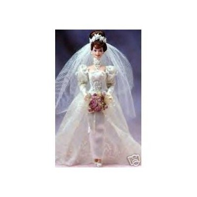 Romantic Rose Bride Porcelain Barbie Doll