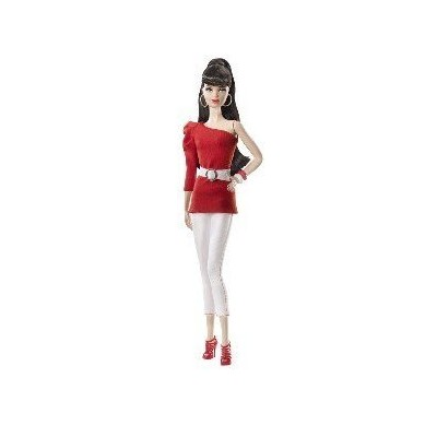 BARBIE BASICS (2011) COLLECTION RED Model NO. 03 BRUNETTE - BLACK LABEL