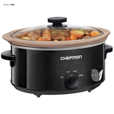 スロークッカー PTOAフリー PTFEフリー 天然素材内鍋 直火可 4.7L Chefman Slow Cooker Stovetop and Oven Safe Crock 5 Qt Slow...
