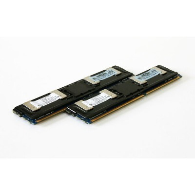 398706-051 HP 計2GB (1GB *2) PC2-5300 DDR2-667 ECC FBDIMM Nanya Technology NT1GT72U8PA3BD-3C【中古】...
