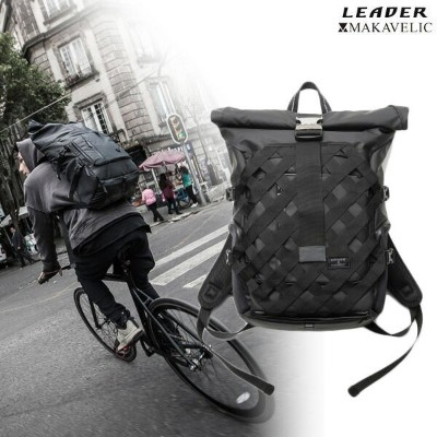 """LEADER BIKES × MAKAVELIC """"ROLLTOP BACKPACK"""" リーダー マキャベリック バックパック"""