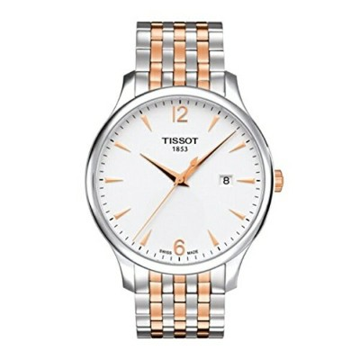 ティソ Tissot 腕時計 メンズ 時計 Tissot T063.610.22.037.01 Men's Watch Tradition Silver/Rose Gold 42mm...