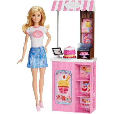 Mattel Barbie バービー Careers Bakery Shop プレイセット おもちゃ with Blonde doll 人形 送料無料 【並行輸入品】