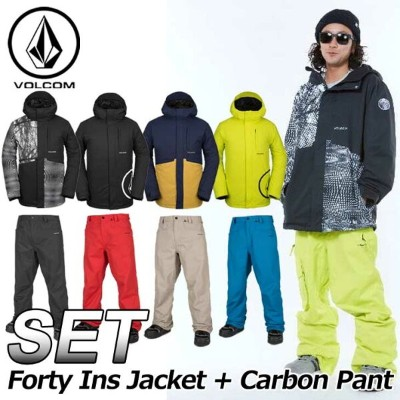18-19 VOLCOM ボルコム メンズ ウェア 上下セット スノーボード 【17 Forty Ins Jacket+Carbon Pant 】G0451908 G1351915 ship1...