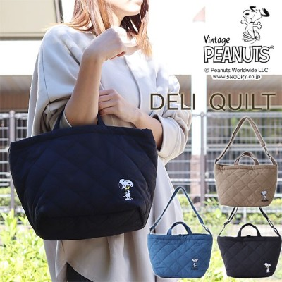 ROOTOTE ルートート デリ キルト PEANUTS【SNOOPY 通学 通勤 ランチバッグ 散歩 サブバッグ】