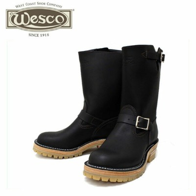 正規取扱店 正規ディーラー Wescoウエスコ Boss ボス Black Leather, 10height, #100HoneySole, Nickel Buckles BS76