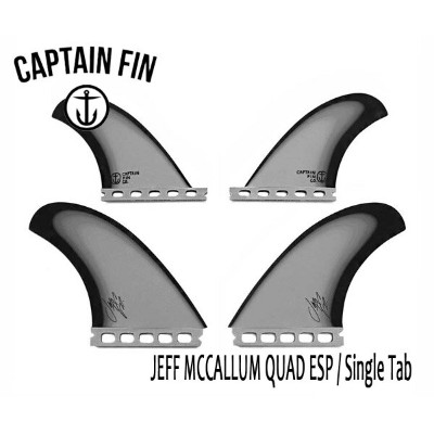 CAPTAIN FIN・キャプテンフィン/QUAD・4フィン/JEFF MCCALLUM QUAD ESP FIN SINGLE TAB/FUTURES・フューチャータイプ/CFF2311700...
