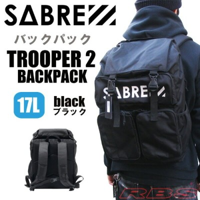 SABRE セイバー バックパック リュック TROOPER 2 BACKPACK 17L カラー BLACK 【セイバー バッグ 鞄】【ストリート バックパック】【あす楽 送料無料 日本正規品】