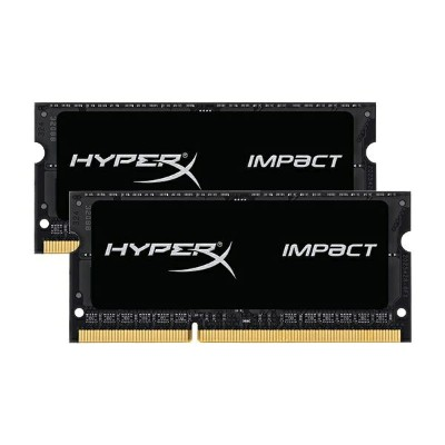 キングストン HyperX Impact 16GB(8GBx2枚組) 1600MHz DDR3L CL9 SODIMM 204pin (Kit of 2) 1.35V HX316LS9IBK2/16