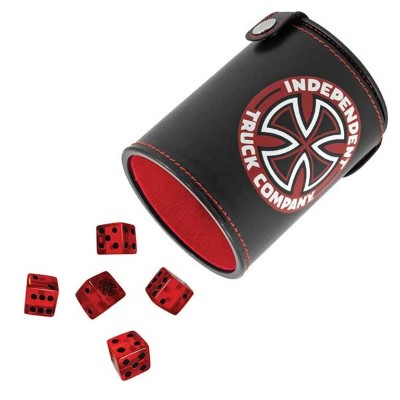 【Independent】インディペンデント【Shakeum Up Dice Set】Black/RED【SKATEBOARD】スケボー【スケート】ダイス