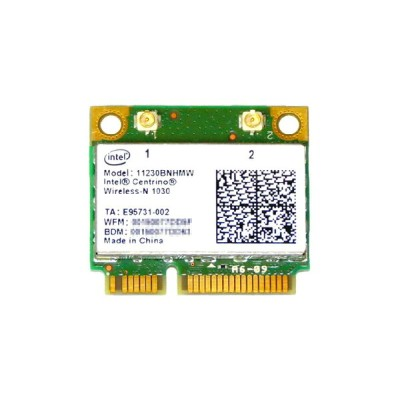 インテル Intel Centrino Wireless-N 1030 Single Band 802.11b/g/n 300Mbps + Bluetooth 3.0 PCIe Mini half...